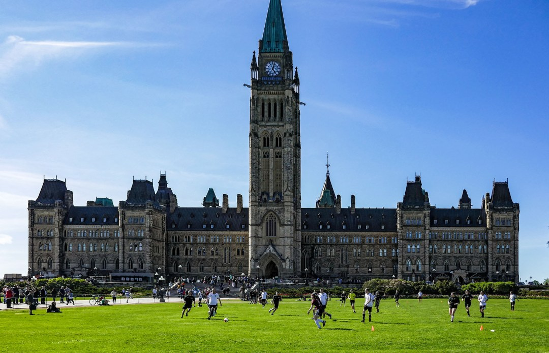 Soccer Game on Parliament Hill for boomervoice