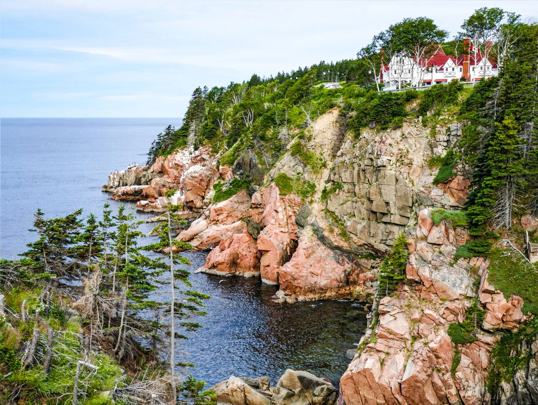 Sea and cliff view of Keltic Lodge for boomervoice