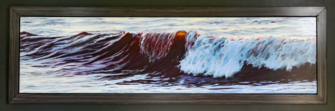 Jaye Ouellette wave painting for boomervoice