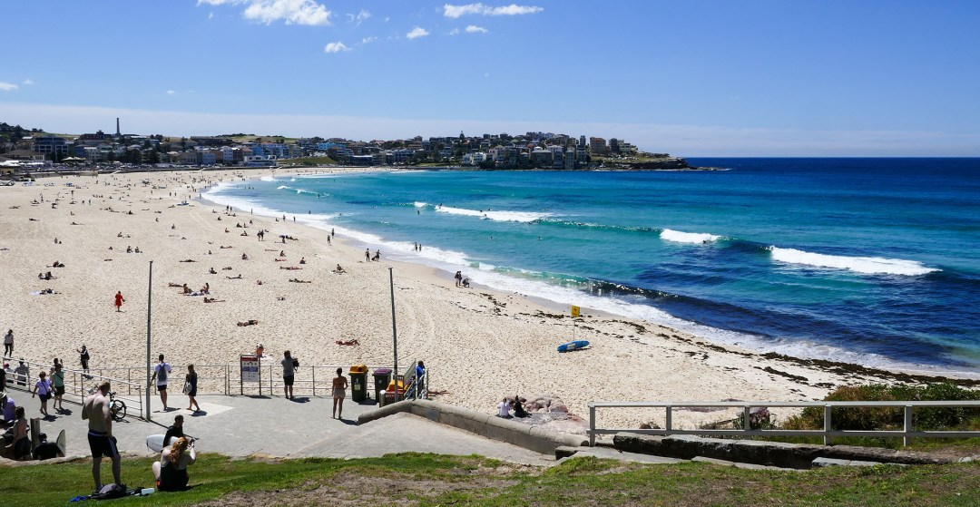 Bondi Beach view on Coogee to Bondi walk for boomervoice