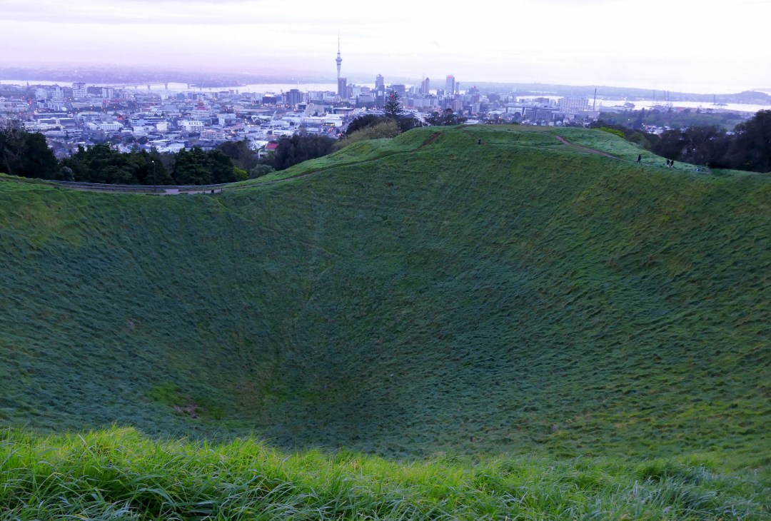 Mount Eden in Auckland New Zealand for boomervoice