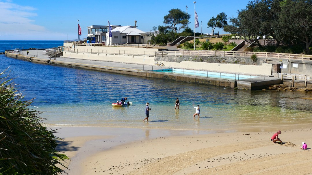 Ocean pool at Clovelly beach on Coogee to Bondi walk for boomervoice