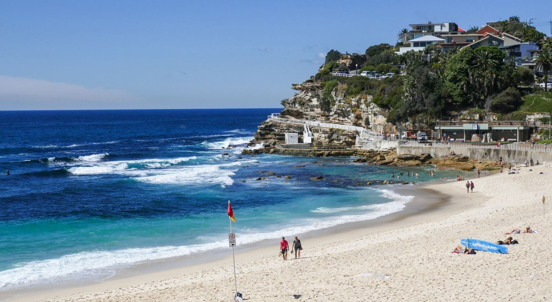 Ocean rock pool on Coogee to Bondi walk for boomervoice