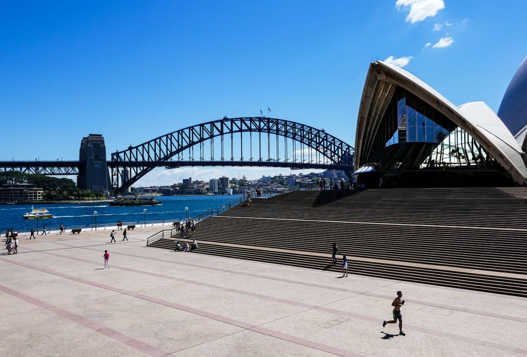 Stairs to the Sydney Opera House for boomervoice