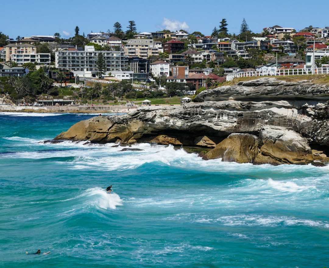 Surfer on Coogee to Bondi walk for boomervoice