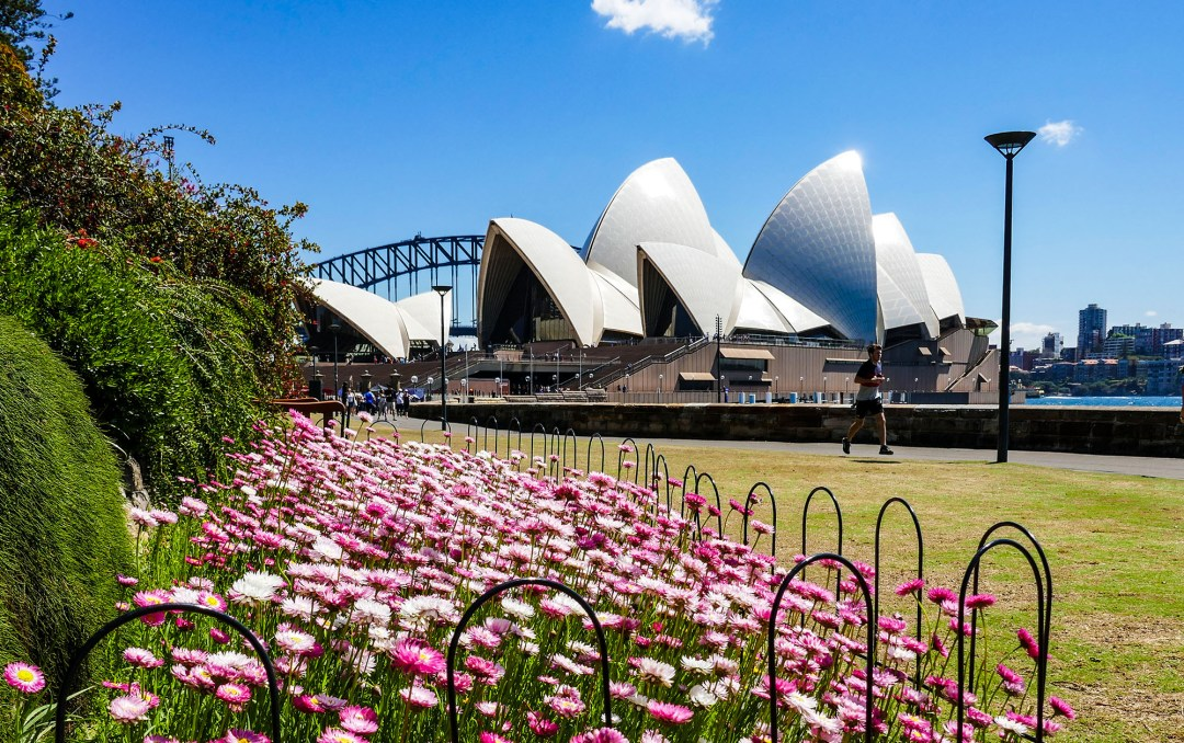 Sydney Opera House in spring for boomervoice