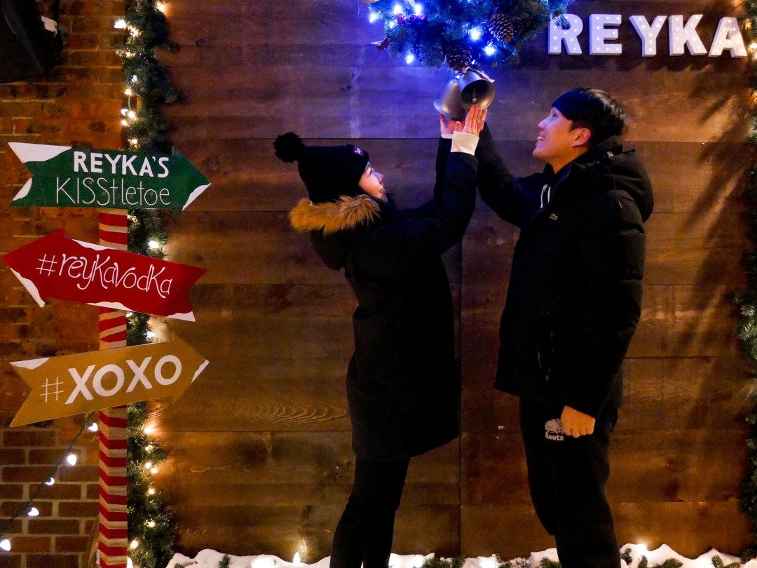 Reyka couple at the Toronto Christmas Market for boomervoice