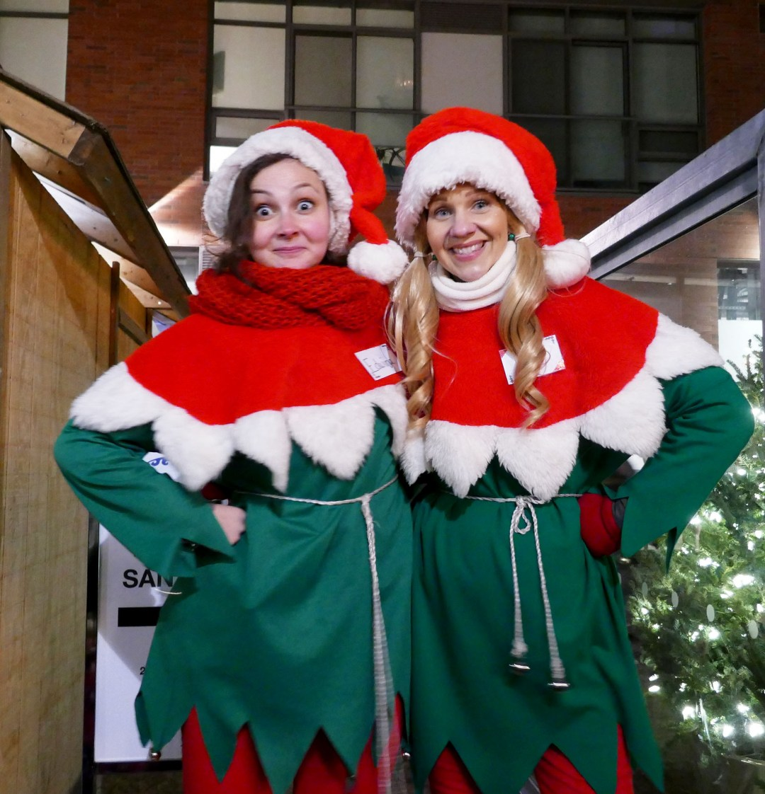 Santa's Elves at the Toronto Christmas Market for boomervoice