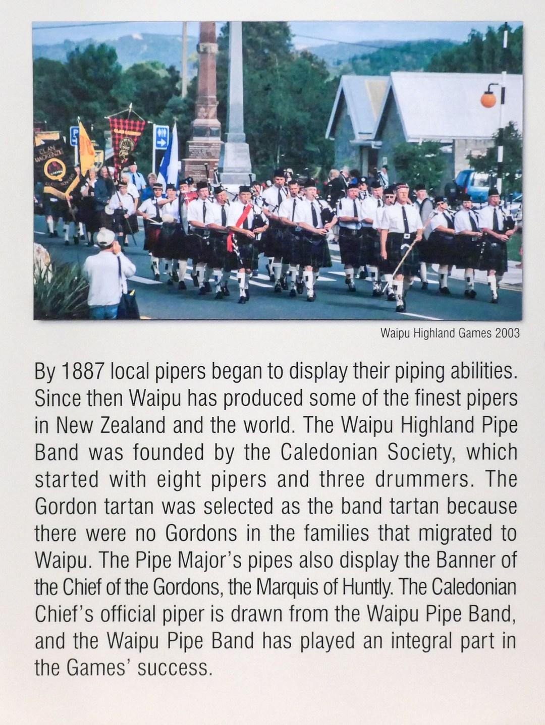 Waipu pipe band for boomervoice