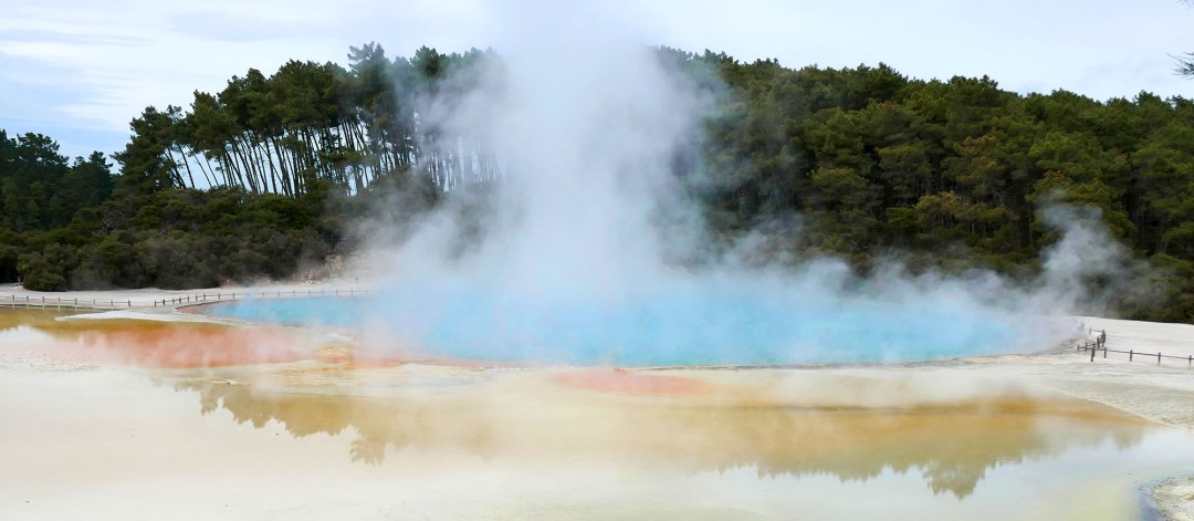 Artist's Palette at Waiotapu Geothermal Park near Rotorua New Zealand for boomervoice