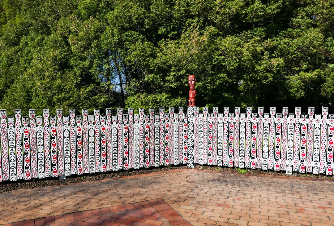 Fence at entrance to Government Gardens in Rotorua for boomervoice