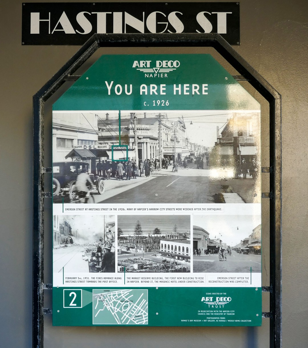 Hastings Street in Napier New Zealand for boomervoice
