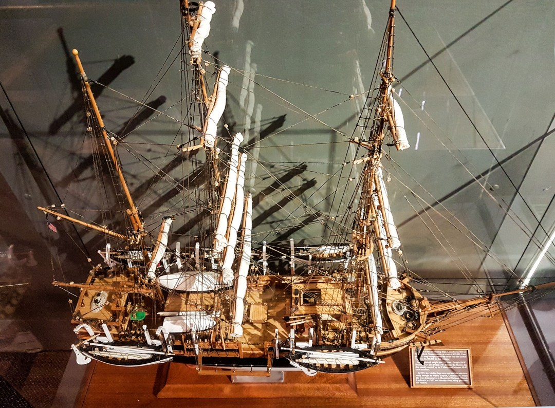 Model of a whaling ship for boomervoice