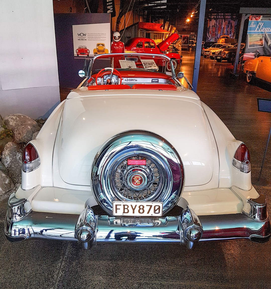 Cadillac 1953 convertible rear at WOW Classic Cars for boomervoice