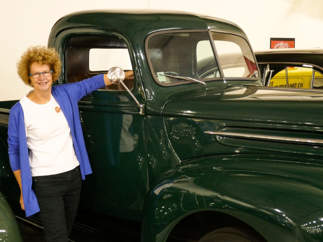 Old Green Truck at WOW for boomervoice