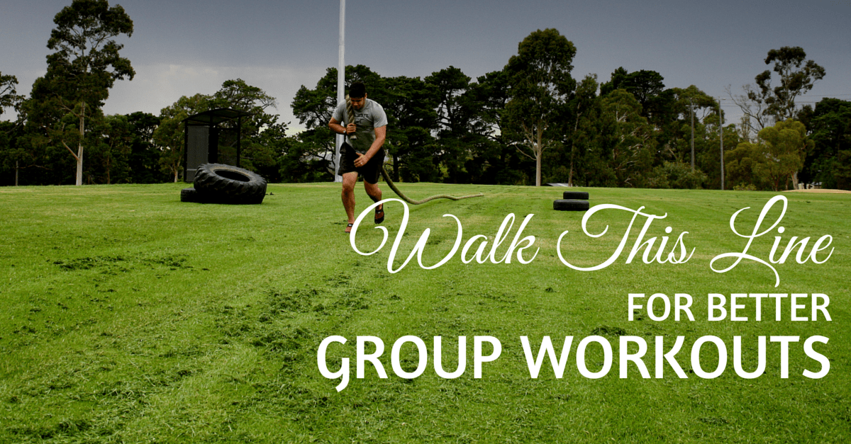 Walk This Line for Better Group Workouts