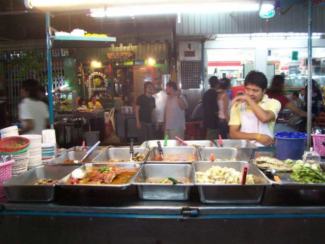 A more typical street food vendor in Bangkok