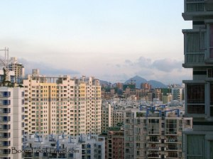 Looking toward Shenzhen Bay from the last apartment