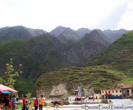 A rest stop in Sichuan Province