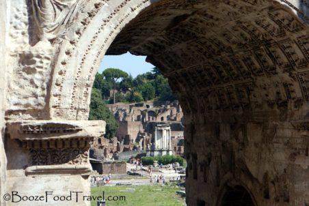The Forum through Septimius Severus Arch