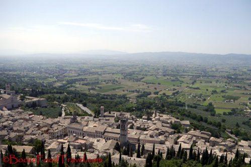 Assisi from Rocca Maggiore