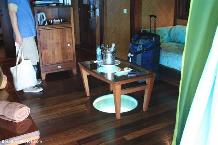 Sofitel glass floor bungalow