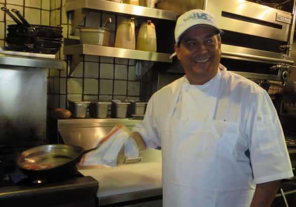 Chef Martin San Roman in his kitchen at Dobson's .