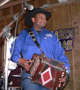 The zydeco music of accordionist Geno Delafose always draws a crowd. Credit: Wendy Lemlin