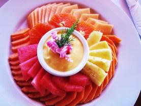 A yougurt and fruit platter for breakfast at San Felipe Marina Resort & Spa