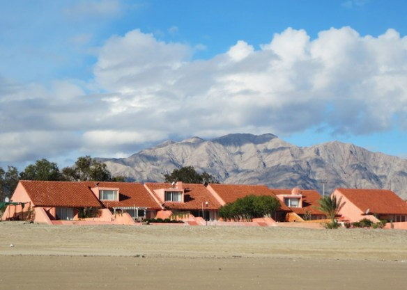 Villas at San Felipe Marina Resort & Spa as seen from the beach.