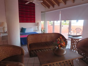 The rooms at the San Felipe Marina Resort & Spa are spacious and colorfully appointed.