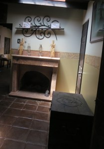 Some of the guestrooms include a fireplace