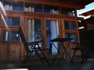 Each casita has a deck to  enjoy a glass of wine on