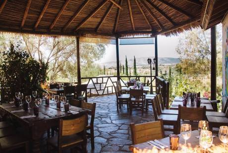 Al fresco dining in the shade of a palapa at Malva