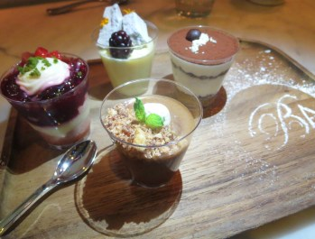 "A selection of dessert ""shots"""