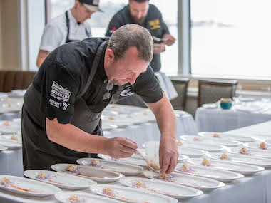 Chef Jason McLeod at Ocean-to-Table Rose Luncheon