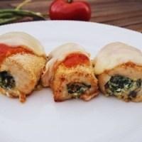 Glutenfri kyllingeruller med tomatsauce og mozzarella