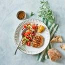 Honning-citron marineret kotelet med linsesalat