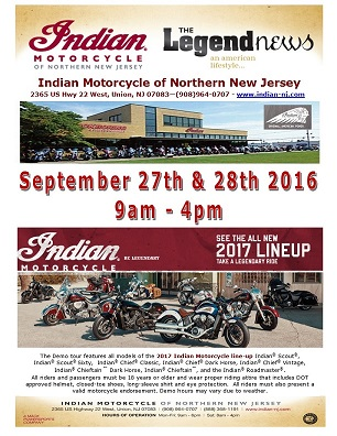 2017 Indian Motorcycle Demo Event