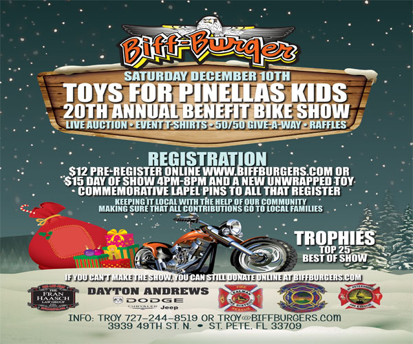 Toys for Pinellas Benefit Bike Show