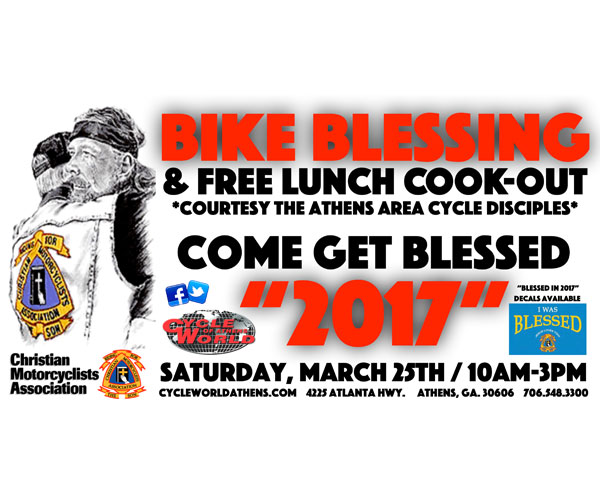 Cycle World of Athens Bike Blessing & Cookout