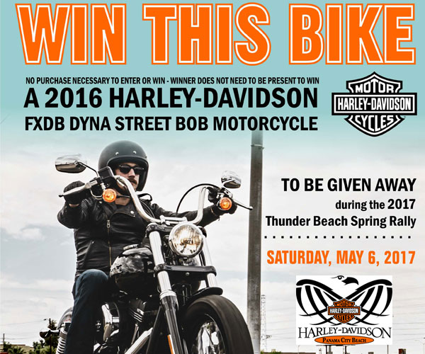 Panama City Beach Harley-Davidson Bike Giveaway