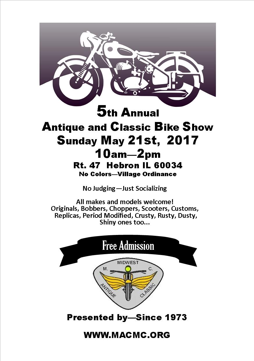 MACMC 5th Annual Classic Motorcyle Show