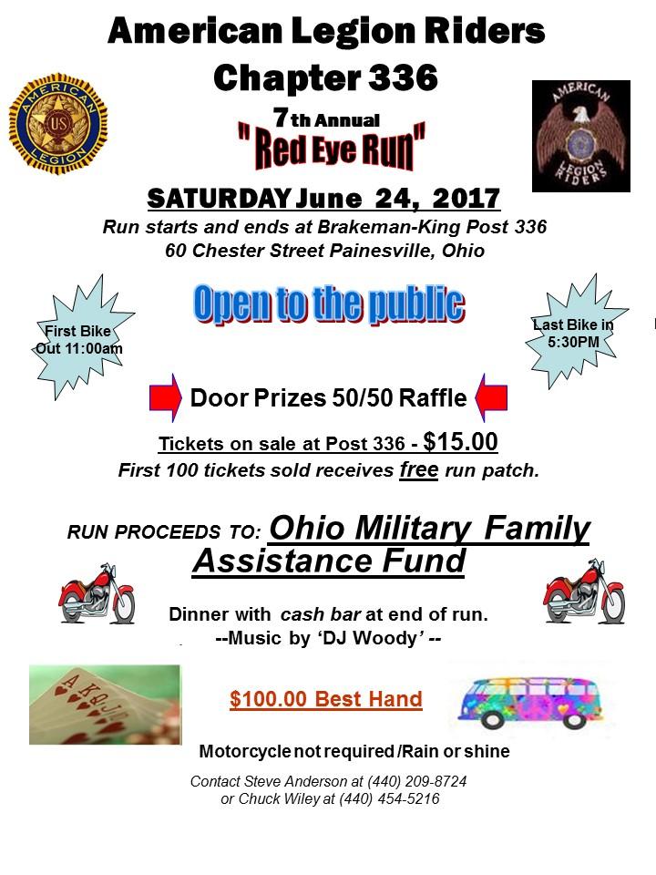 American Legion Riders Chapter 366 - 7th Annual Red Eye Run