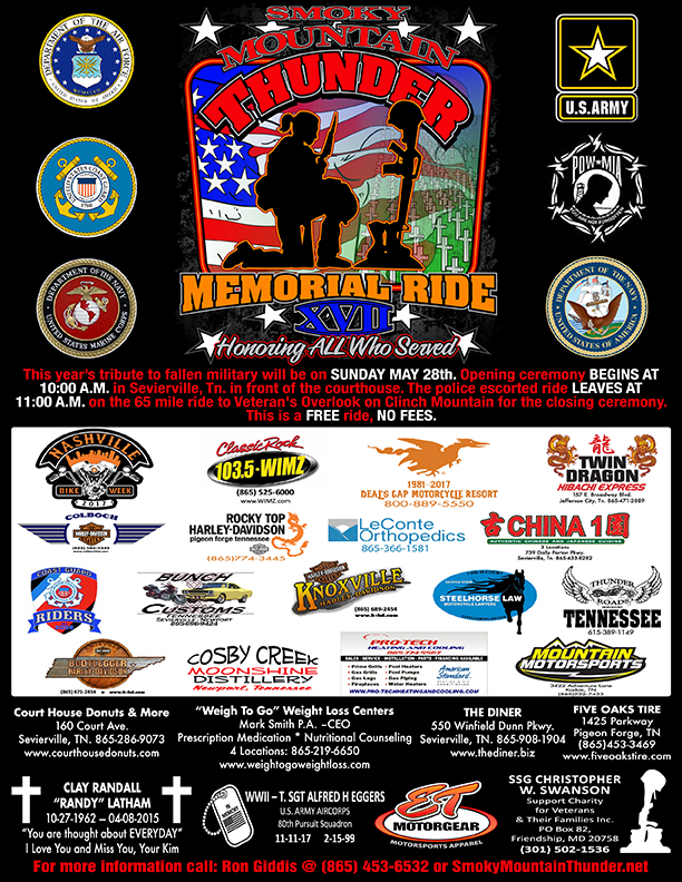 Smoky Mountain Thunder Memorial Ride XVII