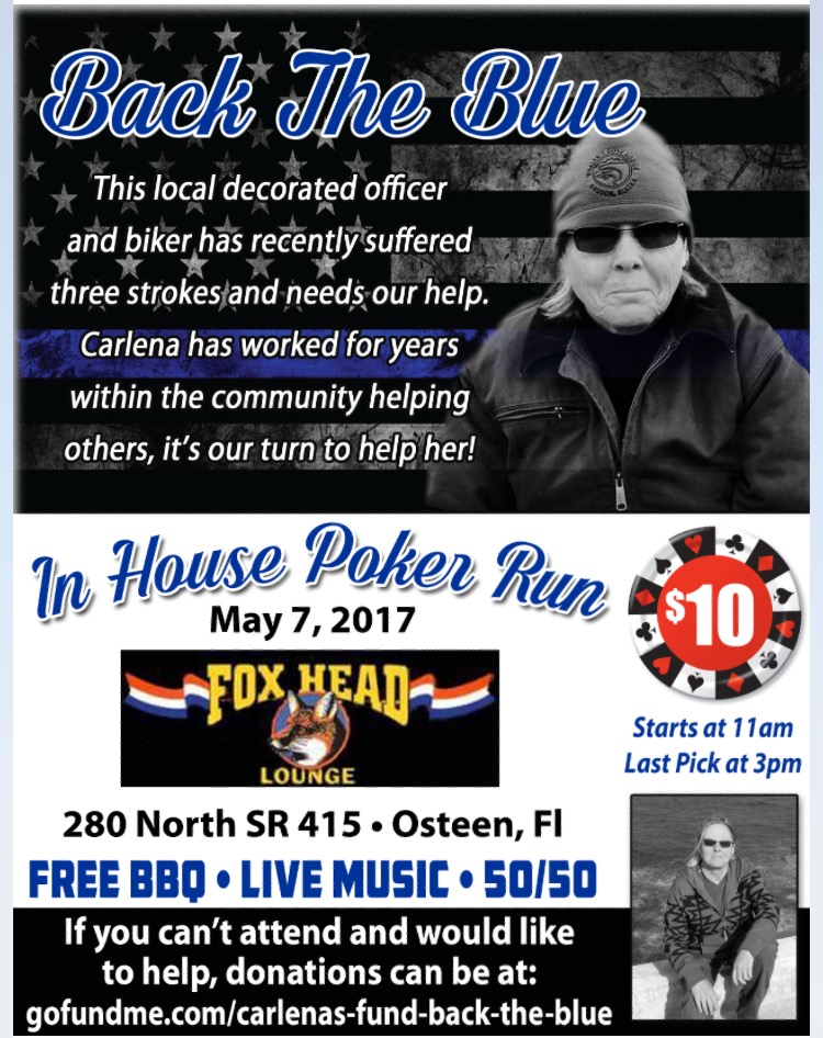Back the Blue In House Poker Run