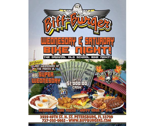 Biff Burger Super Wednesday Bike Night