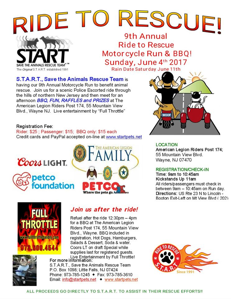 9TH ANNUAL RIDE TO RESCUE