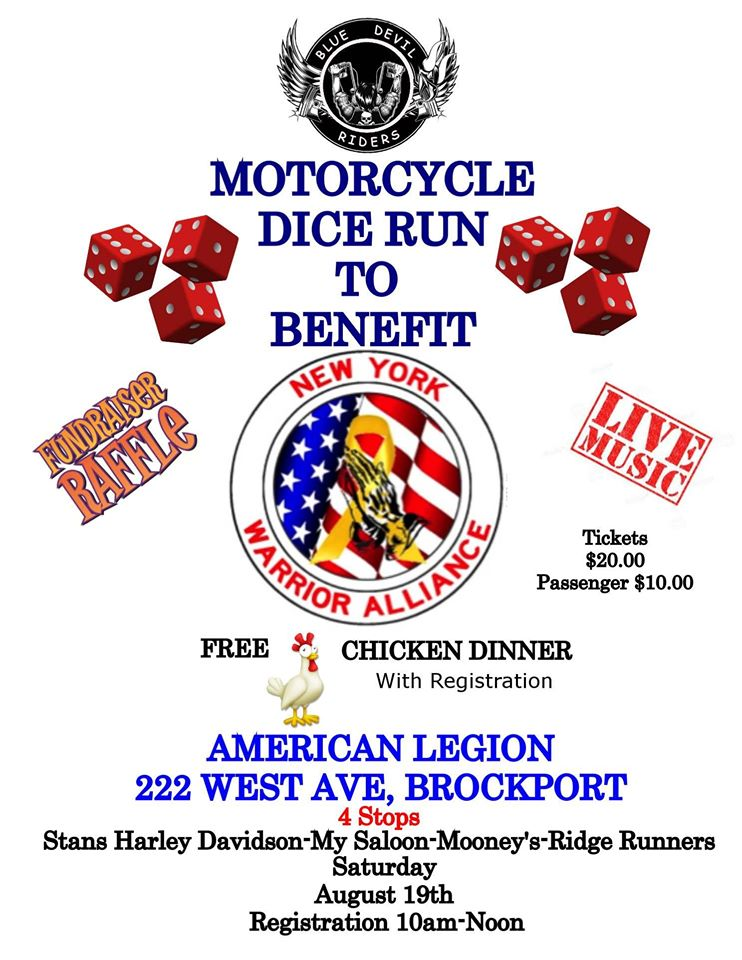 6th Annual Blue Devil Riders Dice Run - To benefit New York Warrior Allience