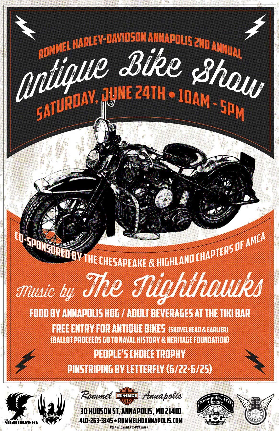Rommel Harley-Davidson Annapolis 2nd Annual Antique Bike Show